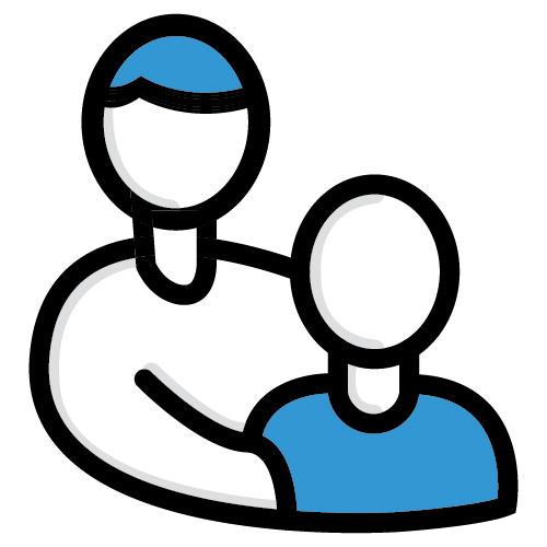 Icon illustration of family