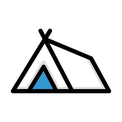 Icon illustration of tent