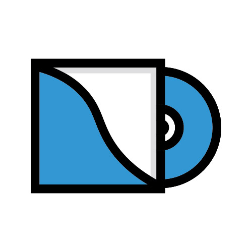 Icon illustration of vinyl record