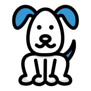Icon illustration of a dog