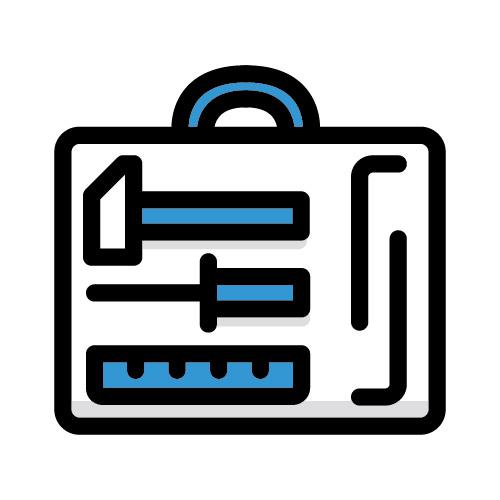 Icon illustration of tool box